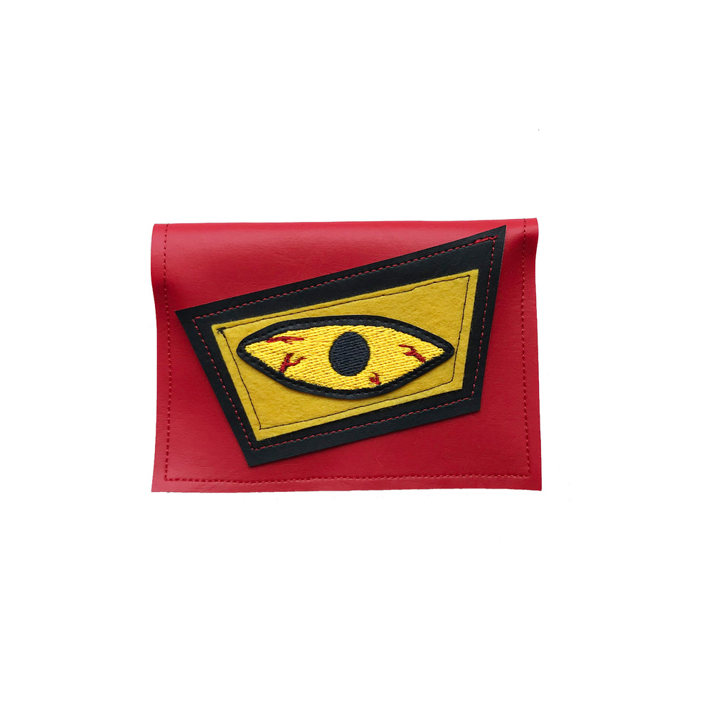 BLOODSHOT EYE wallet - red & yellow