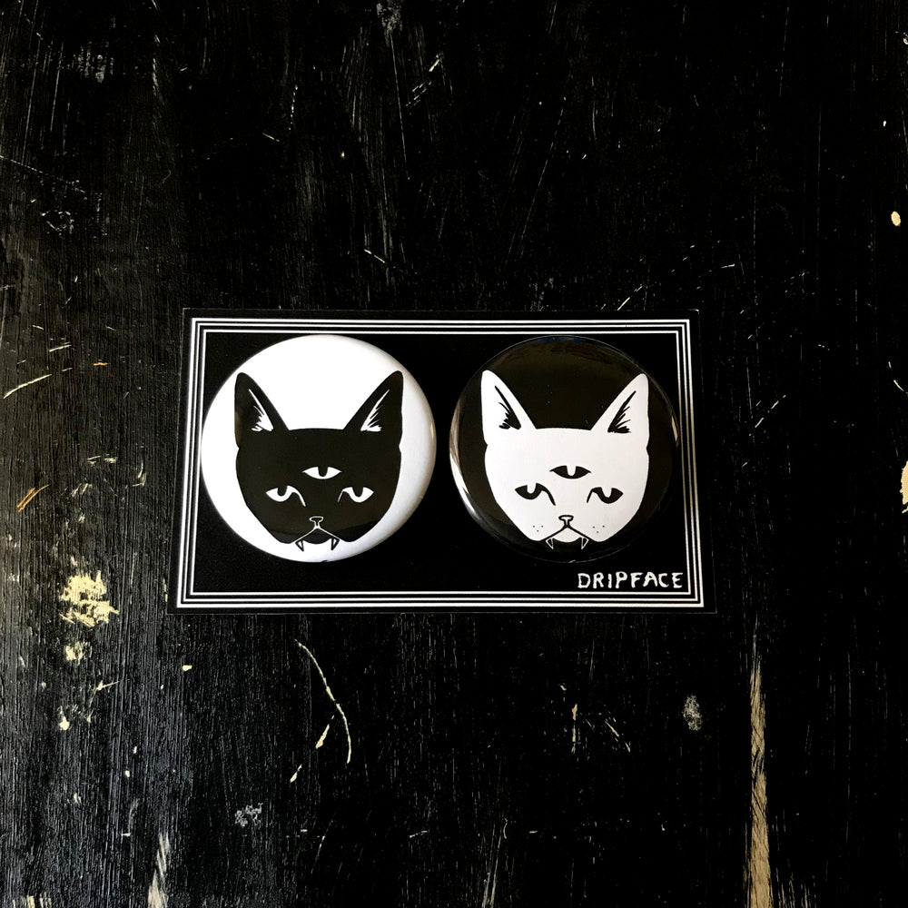 THREE EYED CATS magnet set