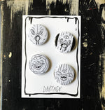 THE CRUSTIES button set