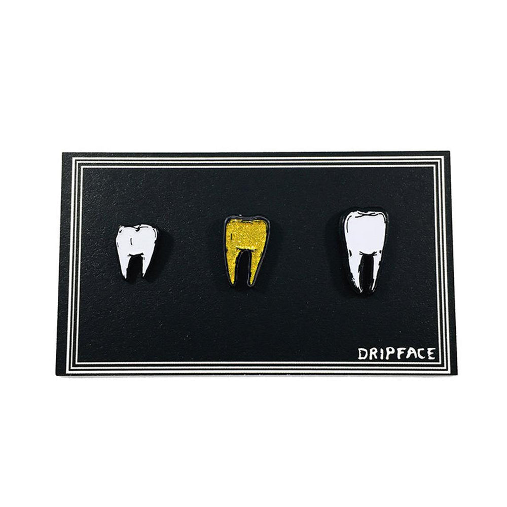BACK UP TEETH v2 - glow in the dark pin set