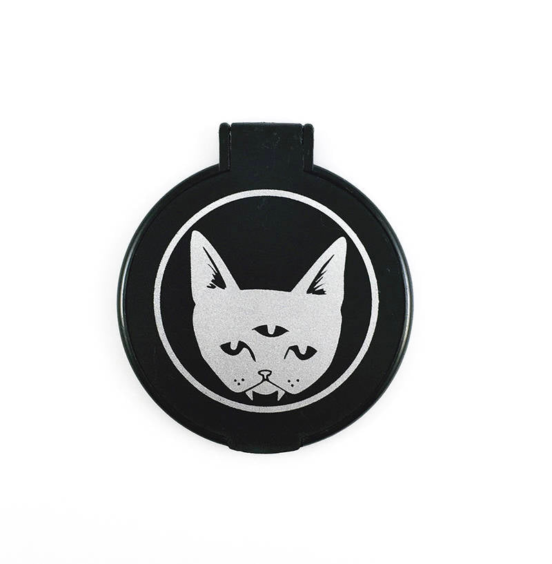 Three Eyed Cat - pocket mirror