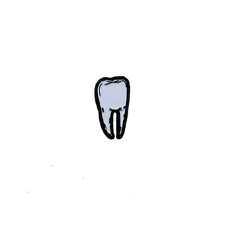 TOOTH #3 glow in the dark - tiny enamel pin
