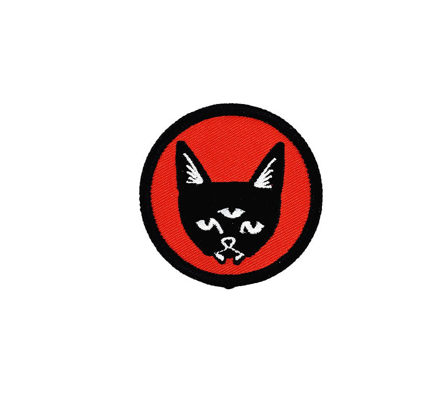 THREE EYED CAT patch - red