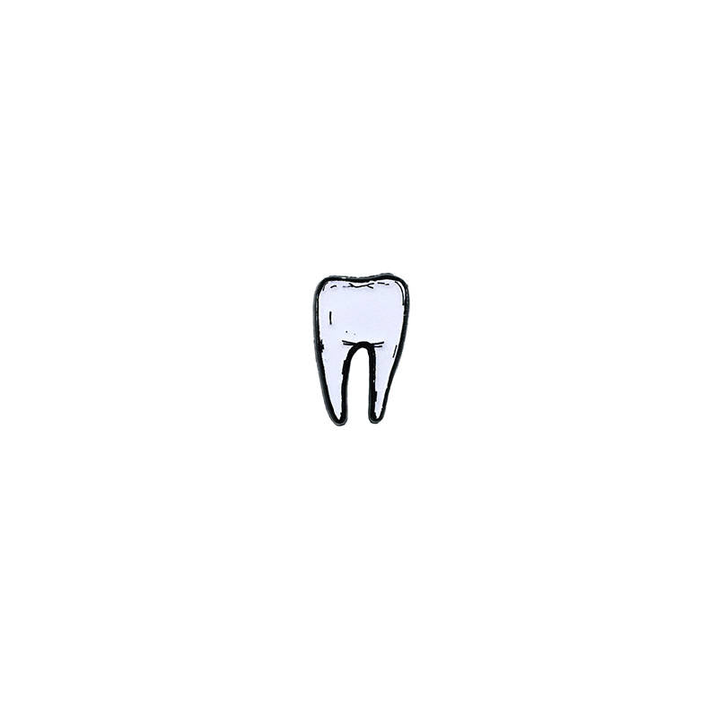 TOOTH #2 pin - glow in the dark