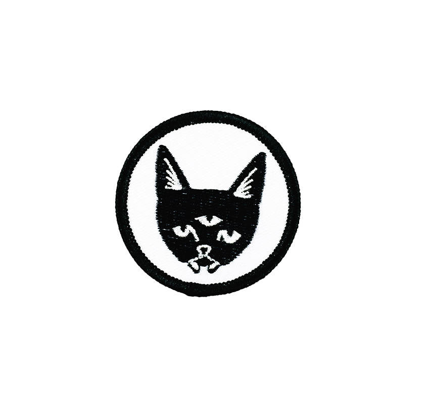 THREE EYED CAT - iron on patch