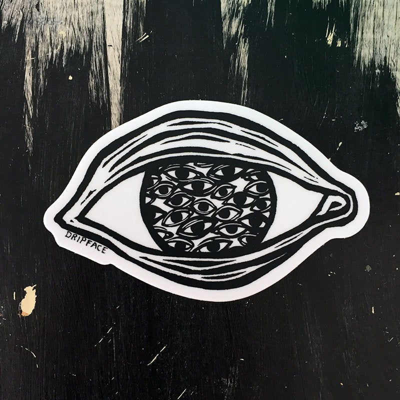 EYE IN EYES -  vinyl sticker