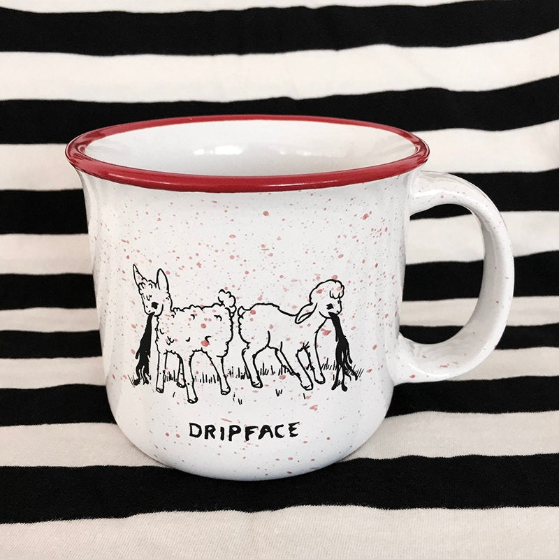 Two Sick Lambs Getting Sick - Ceramic Mug