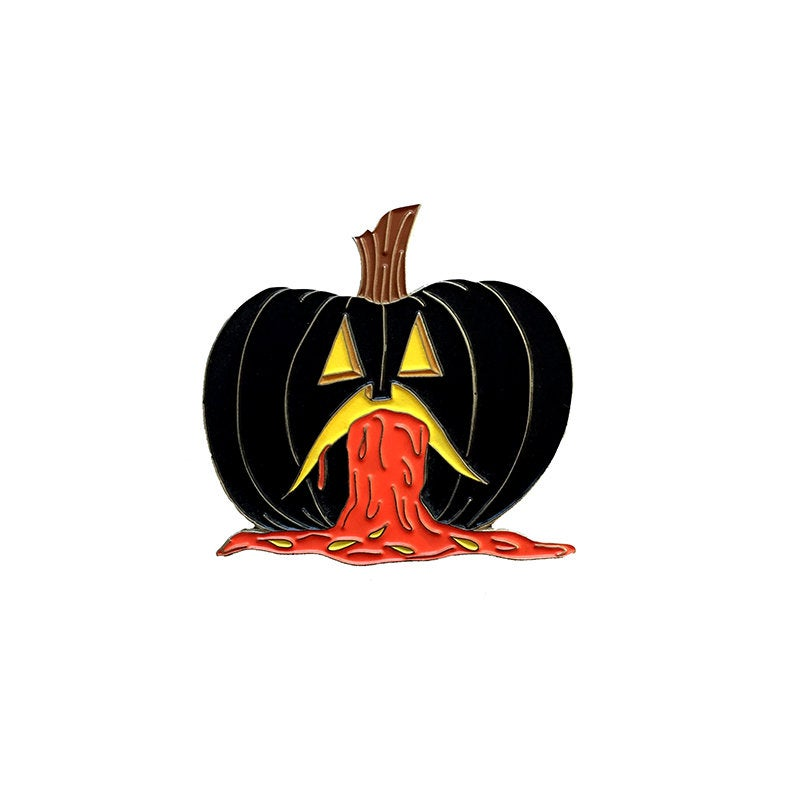 PUKING PUMPKIN v.4 - glow in the dark enamel pin