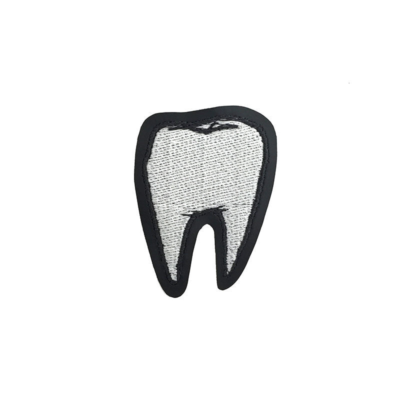 TOOTH glow in the dark - embroidered patch