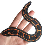 SLITHERY orange & black - embroidered patch