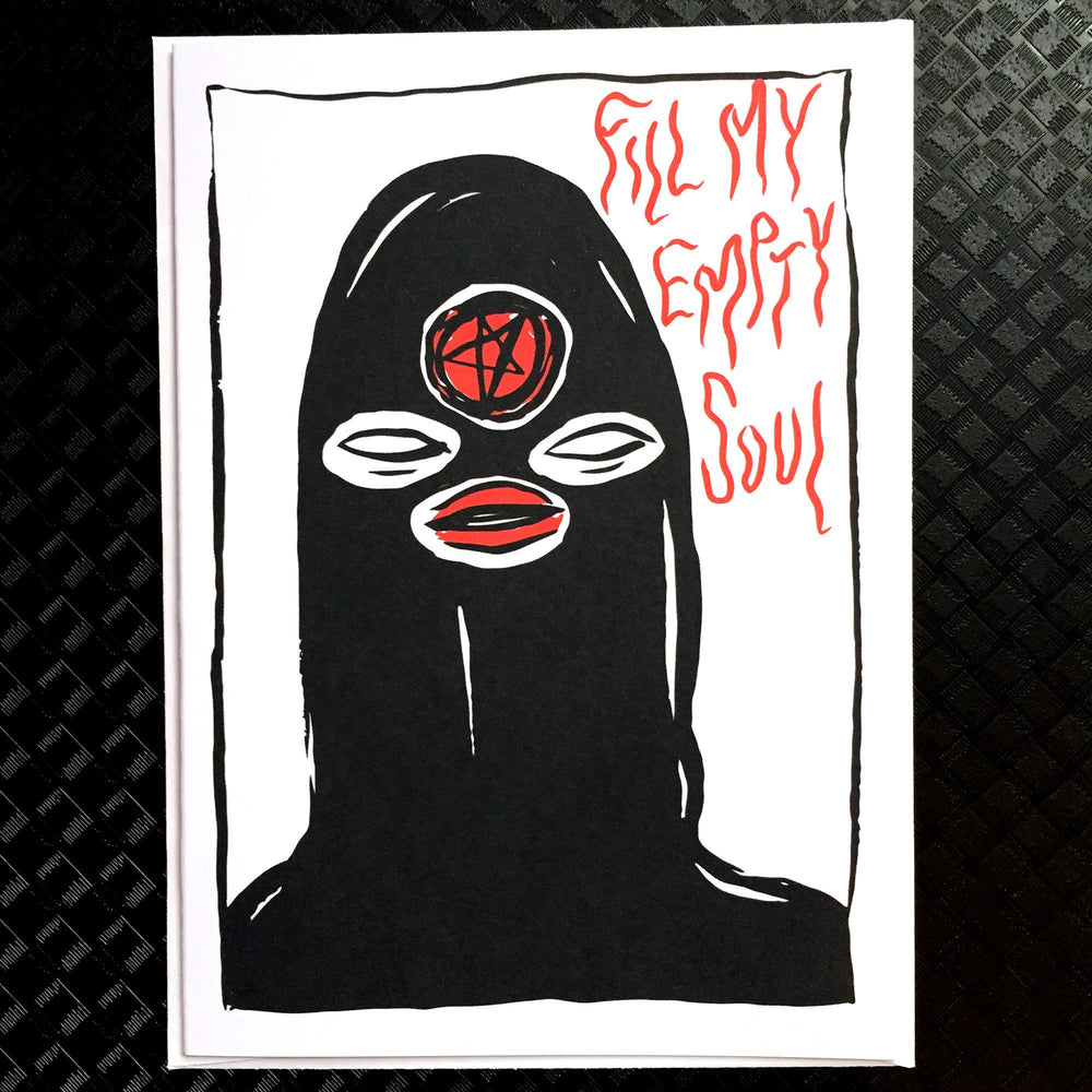 EMPTY SOUL - blank greeting card & envelope
