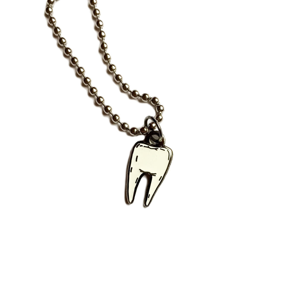 TOOTH #2 necklace - glow in the dark
