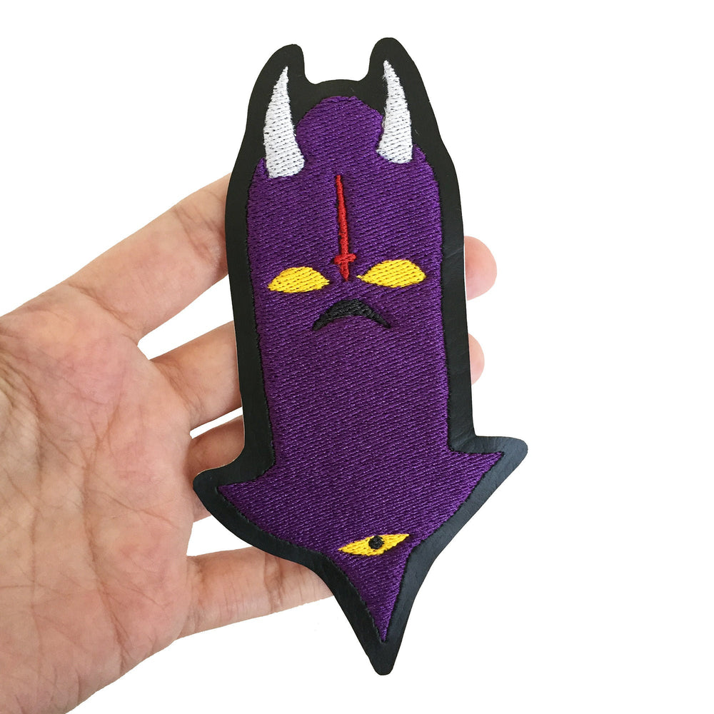 DEMONIC WATCHER purple - embroidered patch