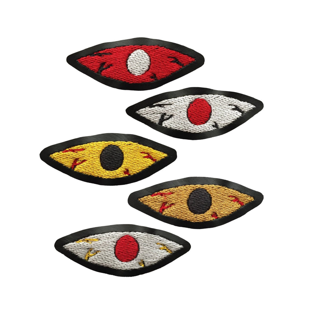 BLOODSHOT EYE black vinyl patch - You choose color & size
