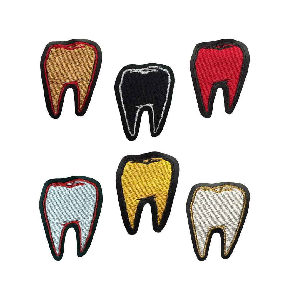 TOOTH #1 black vinyl embroidered patch - you choose colors