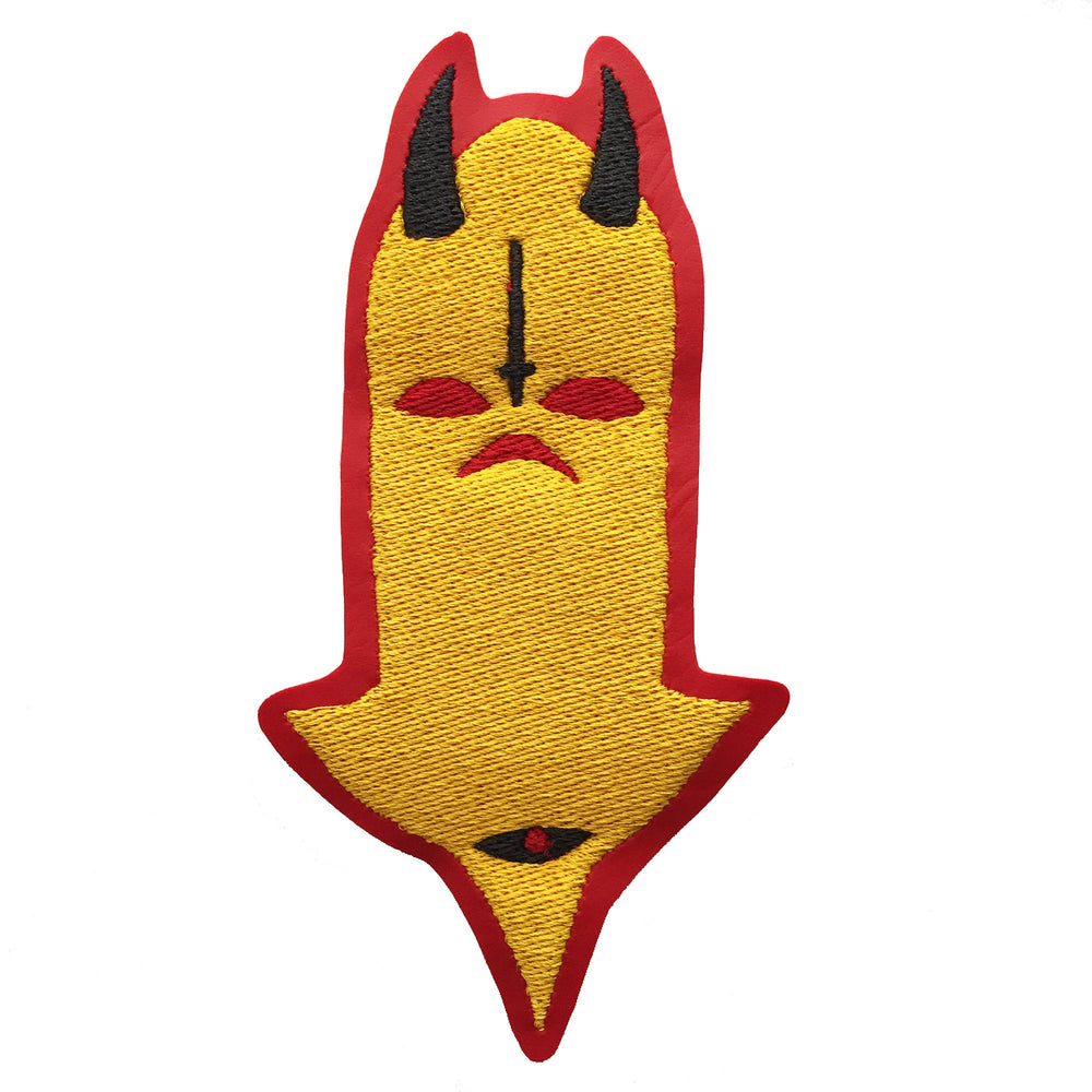 DEMONIC WATCHER yellow - embroidered patch