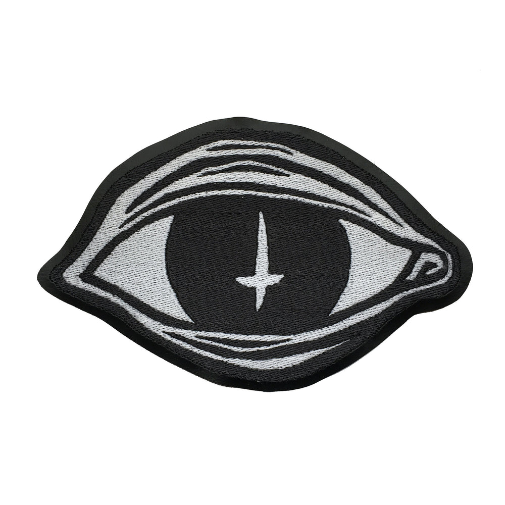 SATAN'S EYE - glow in the dark embroidered back patch