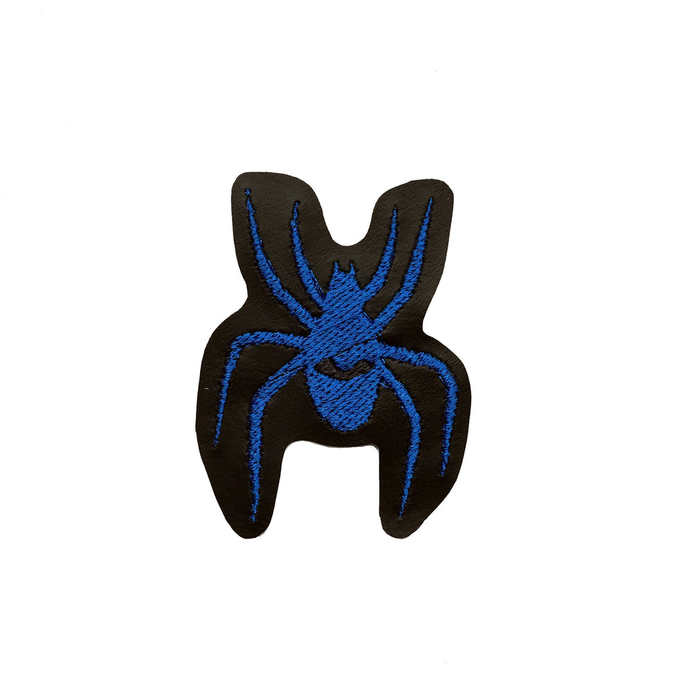 WATCHING SPIDER blue - embroidered patch