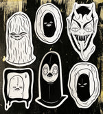 CREEP - handmade sticker pack