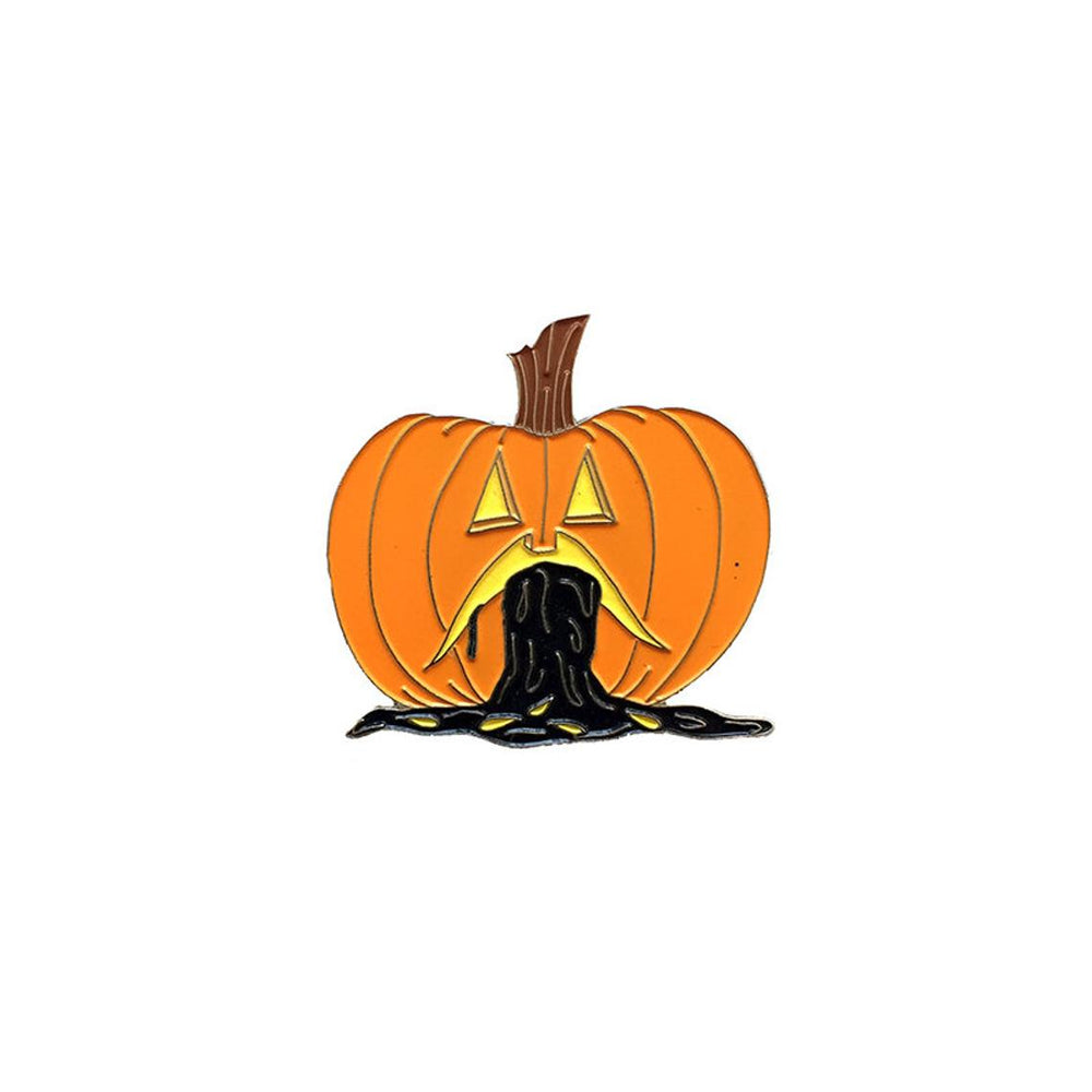 PUKING PUMPKIN v.1 - glow in the dark pin