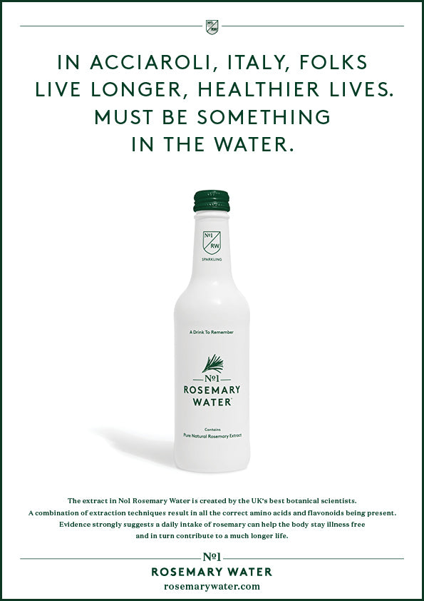 No1 Rosemary Water Campaign