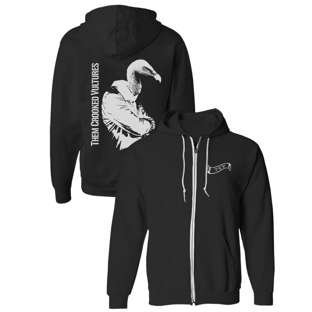 Turn Your Back Zip Hoodie - Them Crooked Vultures