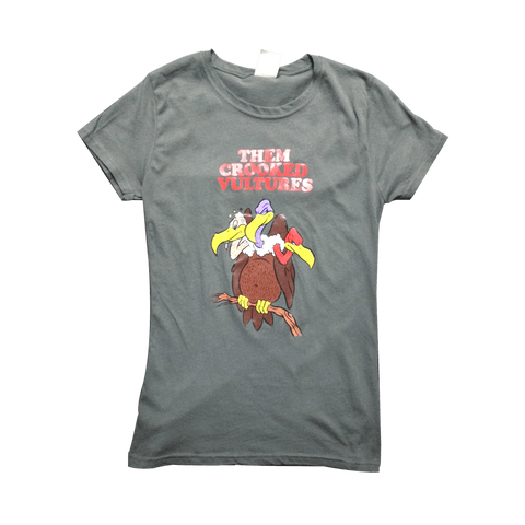 Cartoon Vulture Womens Tee - Them Crooked Vultures