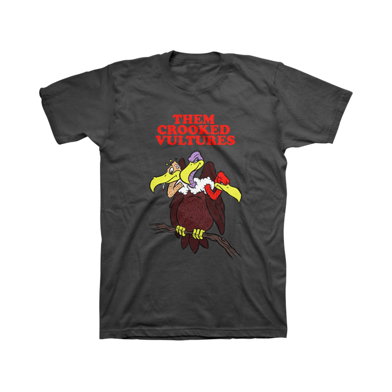 Cartoon Unisex Tee - Them Crooked Vultures
