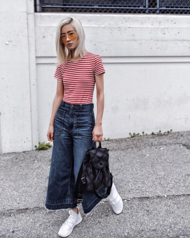 Jean Culotte Pants and Rbutus Shoes