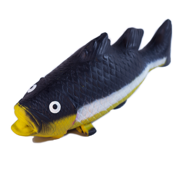 Rubber Bass Fish Toy