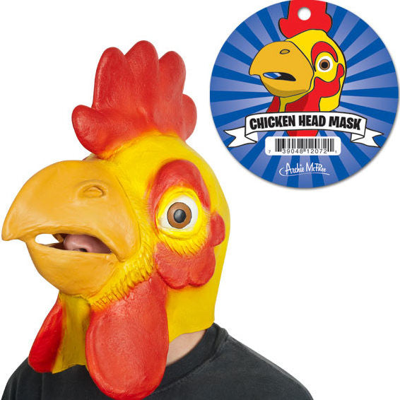 Rubber Chicken Head Mask