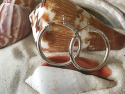 Classic .925 Sterling Silver Hoop Earrings