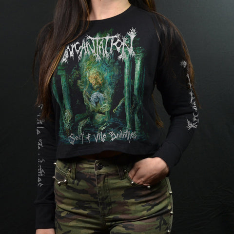 INCANTATION - Sect Of Vile Divinities (Long Sleeve Crop Tee)