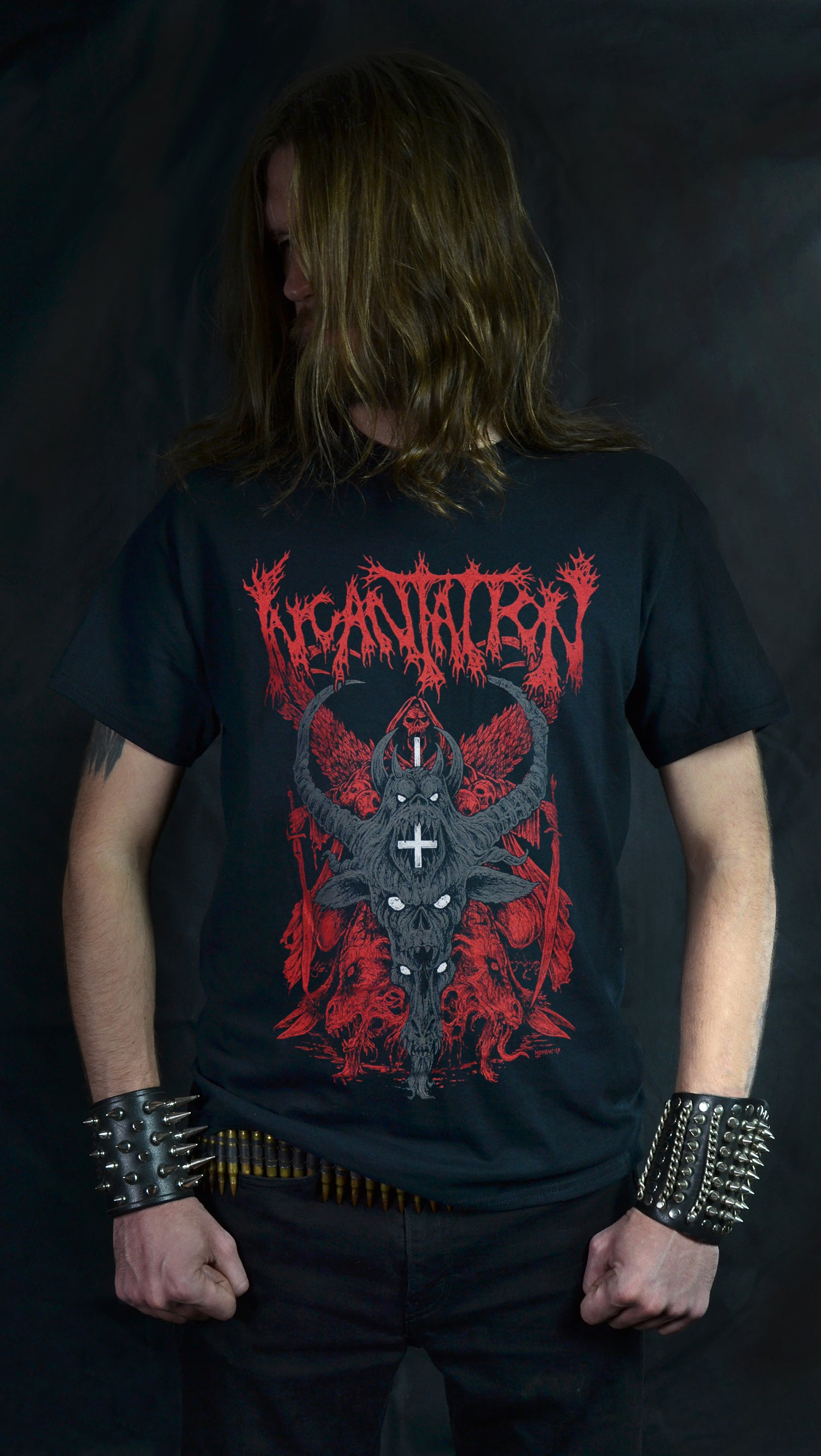 INCANTATION -  Grey Demon Tour 2019 (T-SHIRT)