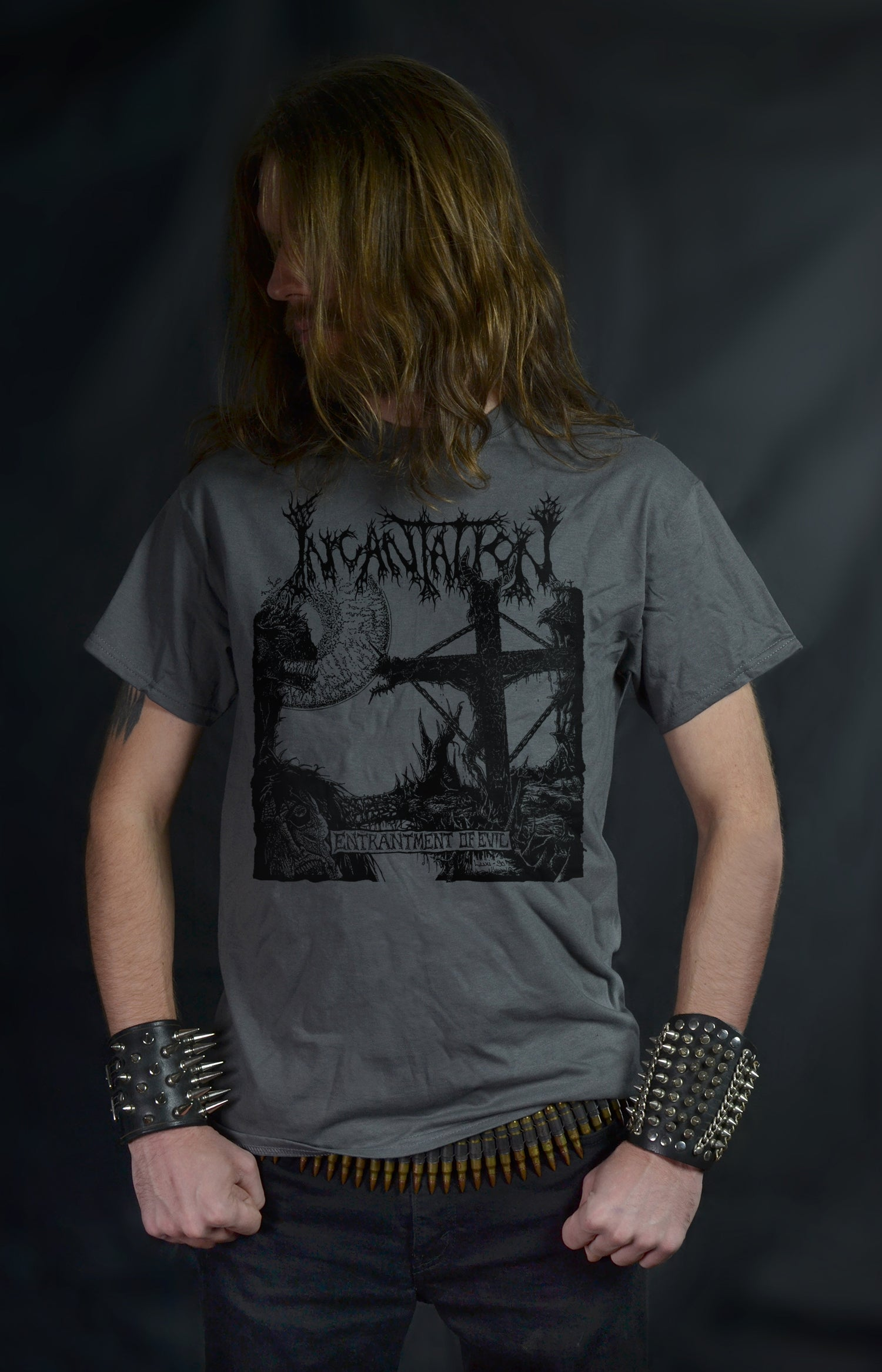 INCANTATION - Entrantment of Evil (Luxi Artwork) (CHARCOAL T-Shirt)