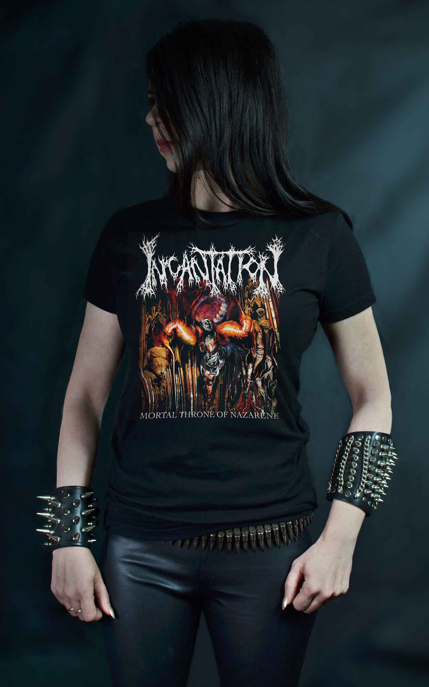 INCANTATION - Mortal Throne of Nazarene (T-SHIRT -OR- GIRLIE)