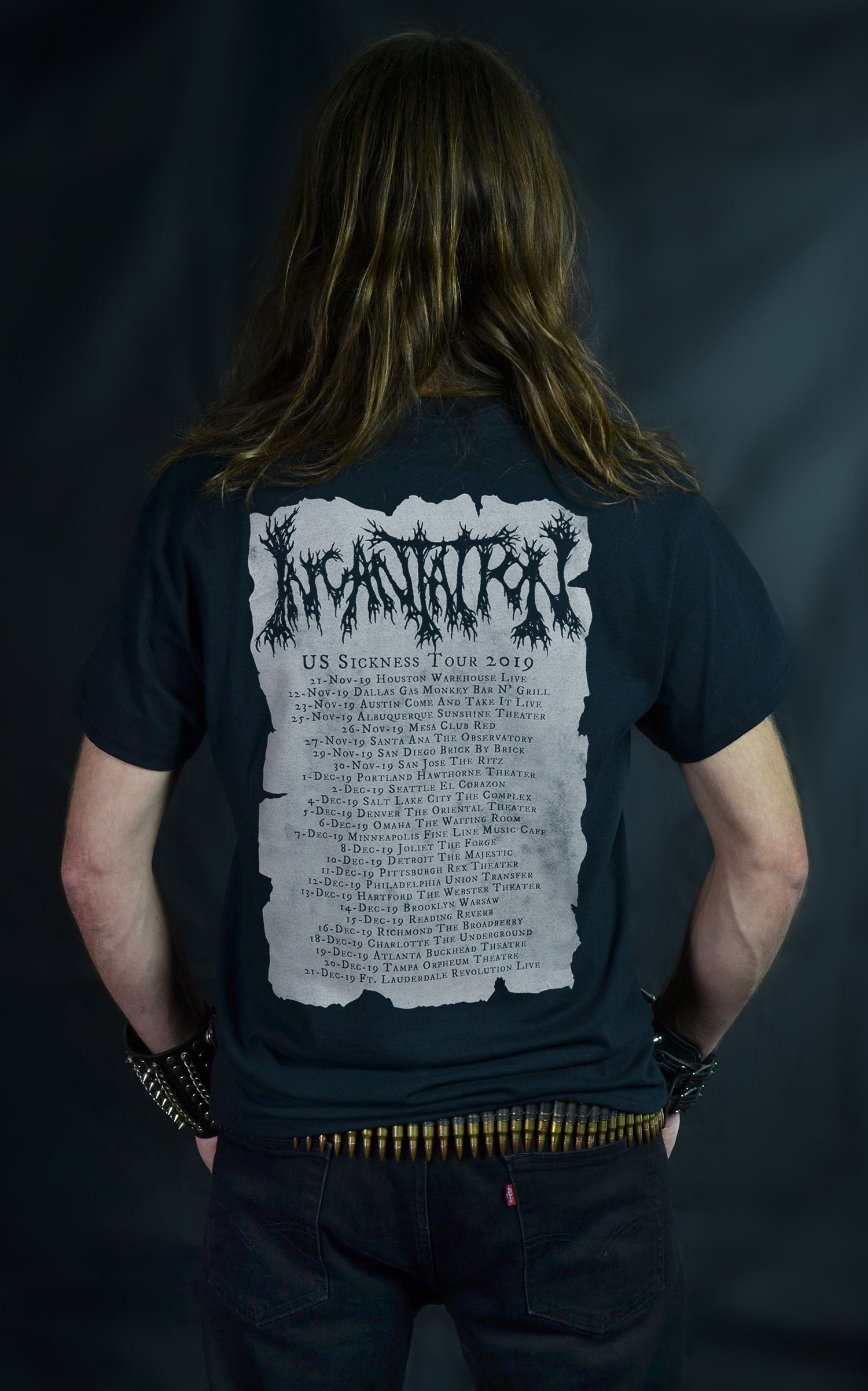 INCANTATION -  Nocturnal Kingdom - US Sickness Tour 2019 (T-SHIRT)