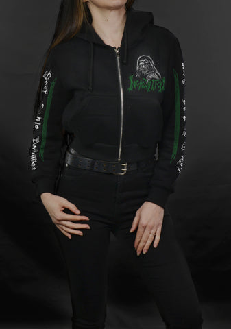 INCANTATION - Sect Of Vile Divinities (Zip-Up Crop Hood BLACK)