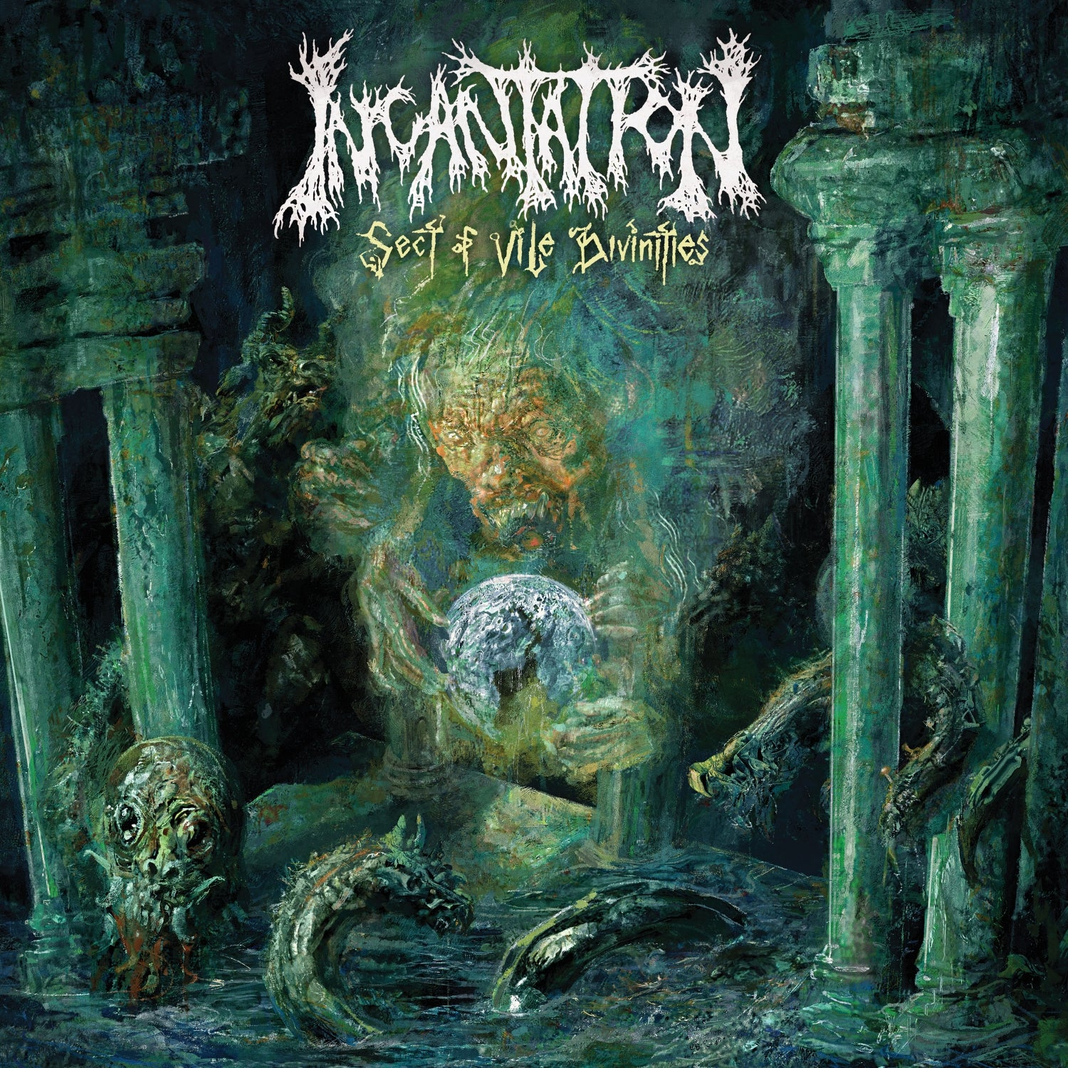 "INCANTATION - Sect Of Vile Divinities (12"" LP olive green / mustard swirl)"
