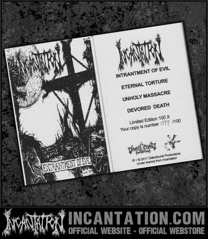 Incantation - Entrantment Of Evil (Limited Edition) Cassette Tape