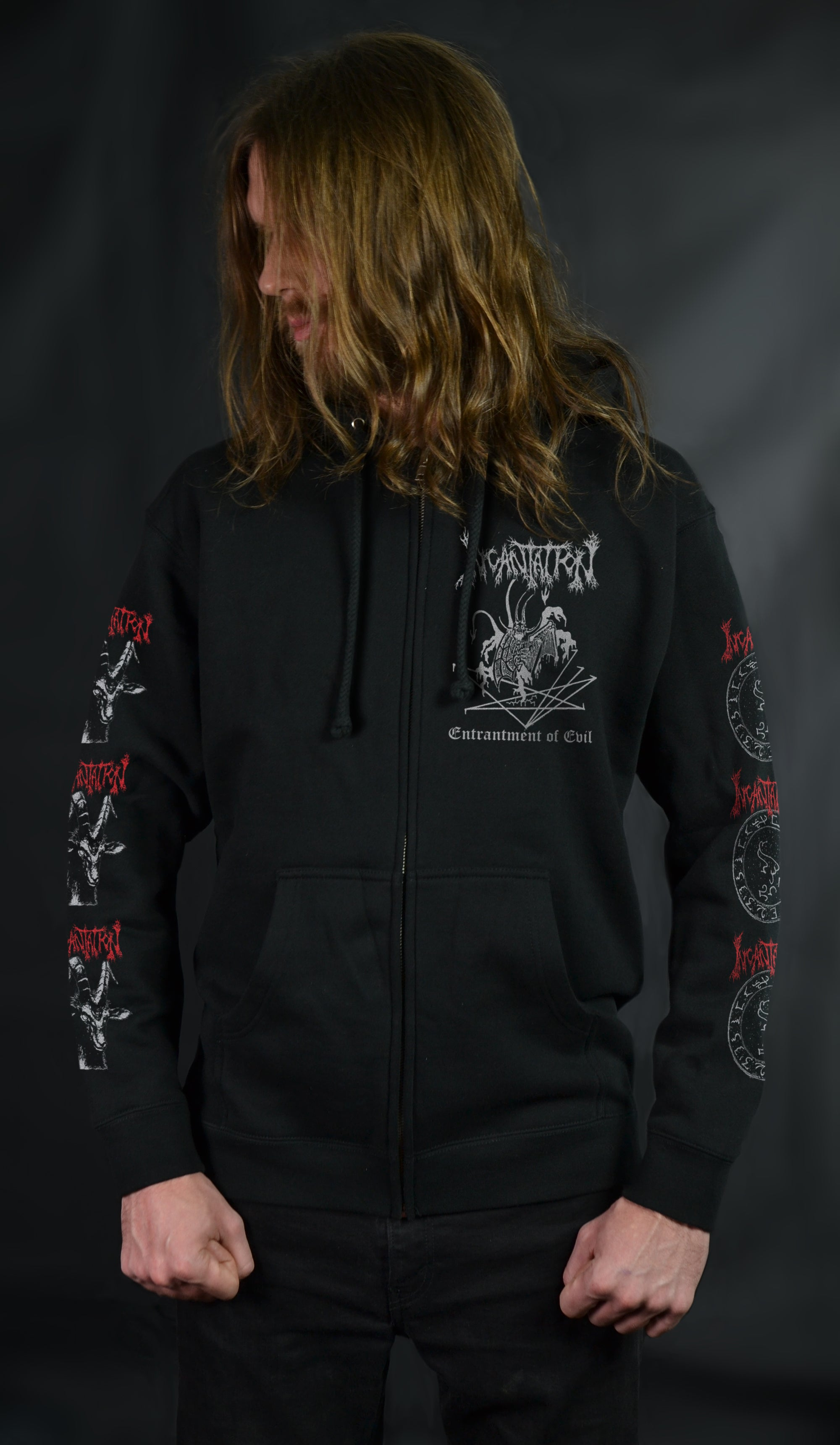 INCANTATION - Entrantment of Evil (ZIP UP HOODIE)