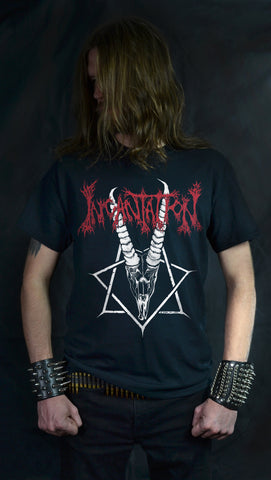 INCANTATION - Ibex Moon  (Black, White, Gray or Red T-SHIRT)