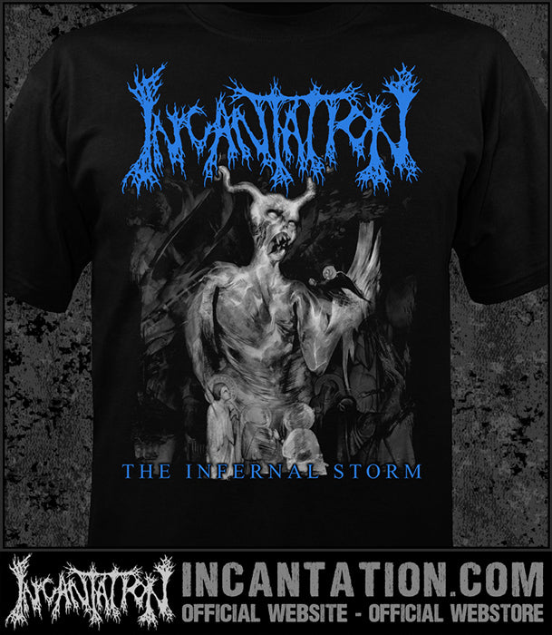 Incantation - Infernal Storm - Blue Logo [Guys Shirt]
