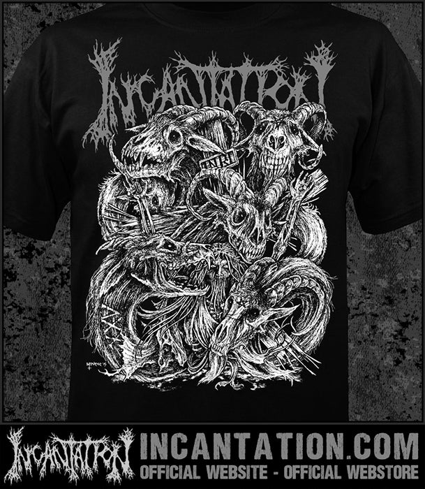 Incantation - XXV - White [Guys Shirt]