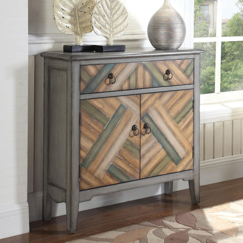 Grey Finish Accent Cabinet 950652