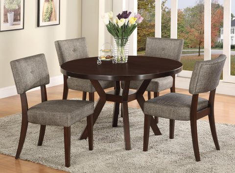 5pc Round Dining Room Table 2610