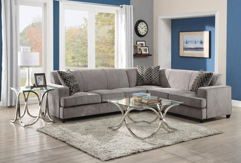 TESS 500727 GREY SECTIONAL SOFA WITH SLEEPER