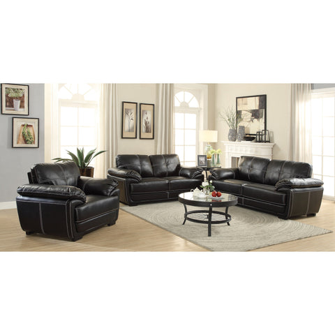 ZENON COLLECTION BLACK SOFA AND LOVE SEAT 551251