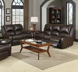 2 PIECES BOSTON BROWN CASUAL SOFA AND LOVESEAT
