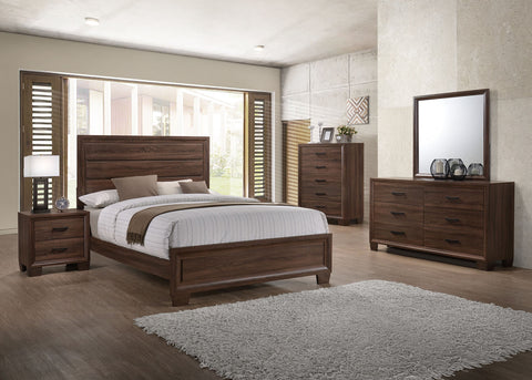COASTER 205321 BRANDON MEDIUM WARM BROWN 4PC BEDROOM SET